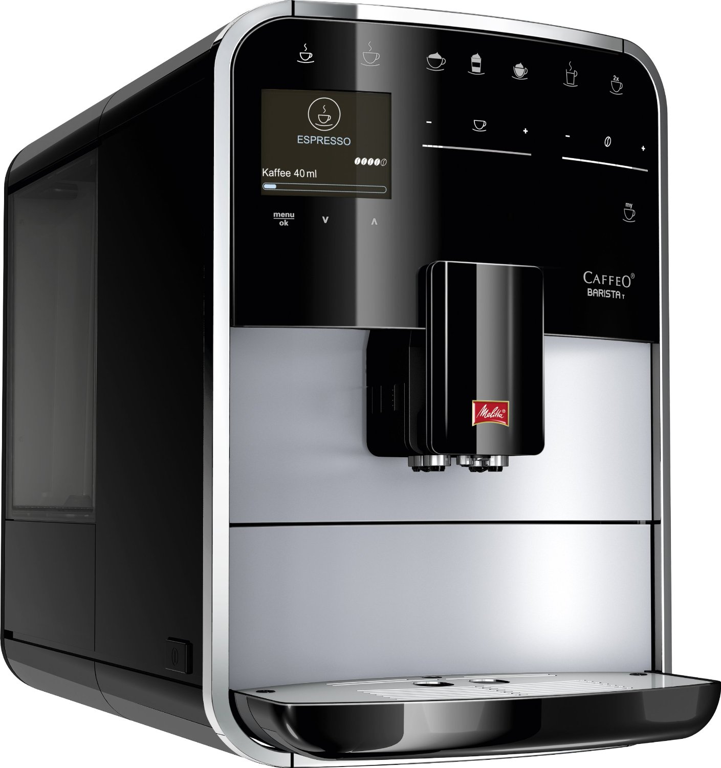 melitta f 731 101 caffeo barista t one touch cappuccino kaffeevollautomat test. Black Bedroom Furniture Sets. Home Design Ideas
