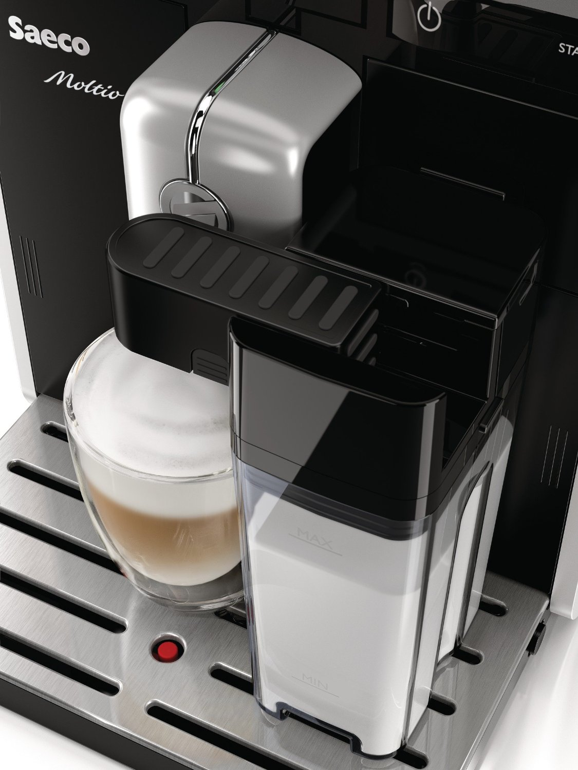 saeco hd8769 01 kaffee vollautomat moltio one touch kaffeevollautomat test. Black Bedroom Furniture Sets. Home Design Ideas